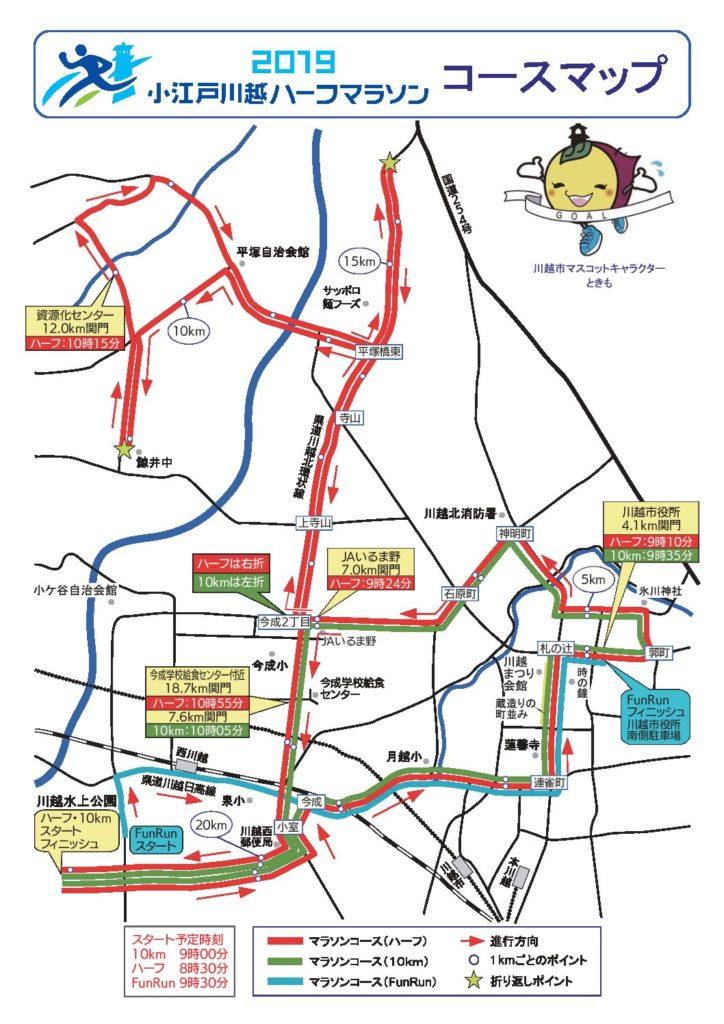 【コース解説】小江戸川越ハーフマラソン、新コースで90分切りするレース戦略。